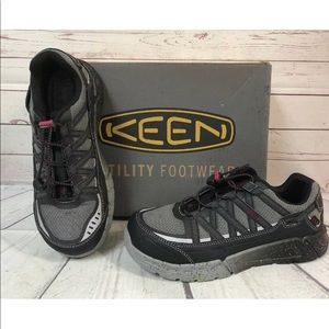 Keen Aluminum Steel Toe Women 9 Work Slip Shoes